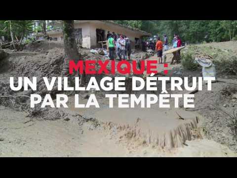 Mexique : un village détruit par un glissement de terrain