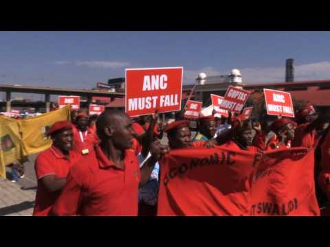 Protests as South Africa's top court hears case against Zuma