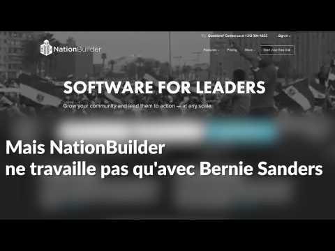 NationBuilder, la plateforme utilisée par Mélenchon et de beaucoup de monde (mais pas de Bernie Sanders)