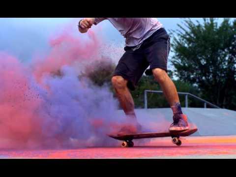 2 minutes de skate très colorées