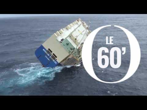 Le Modern Express à la dérive dans le Golfe de Gascogne