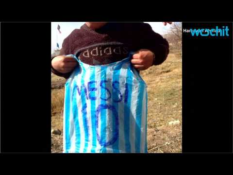 Lionel Messi to Meet Little Afghan Boy With The Plastic Bag Messi Shirt