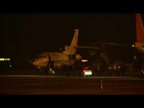 Swiss air force jet lands at Geneva airport