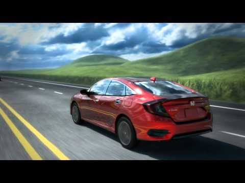 2016 Honda Civic Collision Mitigation Braking System (CMBS) | AutoMotoTV