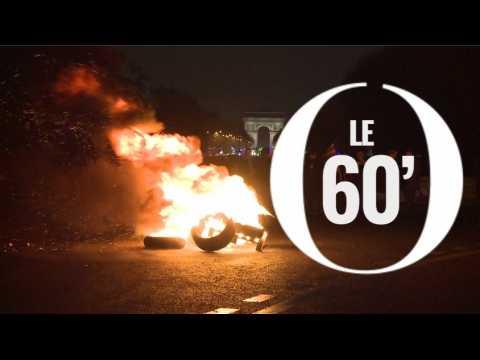 Pneus brûlés, périph' bloqué : la colère des taxis contre les VTC