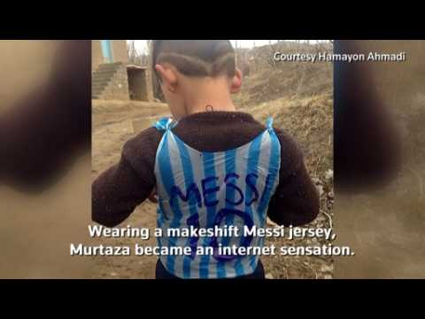 Young Afghan Messi fan flees over kidnap fears