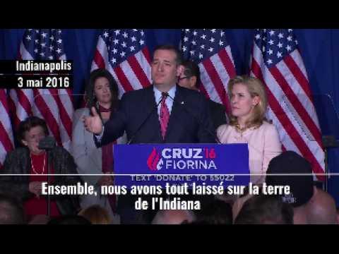 Primaires républicaines : Ted Cruz jette l'éponge après sa défaite dans l'Indiana