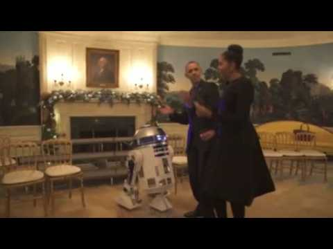 Obamas celebrate Star Wars Day in White House