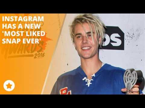 The Biebs officially has the most liked Instagram snap