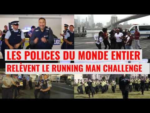 """Les polices du monde entier relèvent le """"Running man challenge"""""""