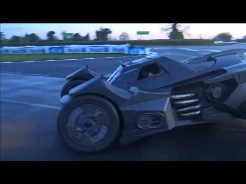 Batmobile replica takes to the circuit ahead of cross-Europe race