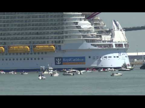 Harmony of the seas : le plus gros paquebot du monde quitte Saint-Nazaire