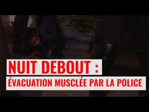 Nuit debout : la police évacue le rassemblement à République