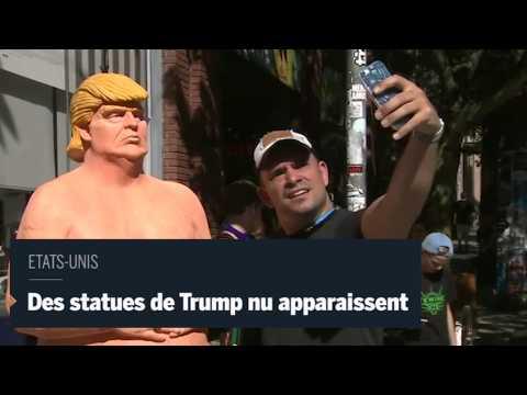 Des statues de Donald Trump nu sont apparues dans plusieurs villes américaines