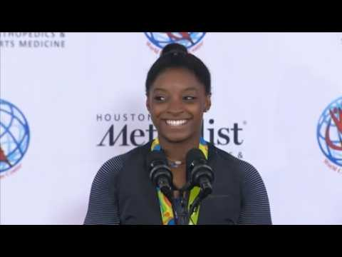 Gold medal gymnast Simone Biles on excited fans