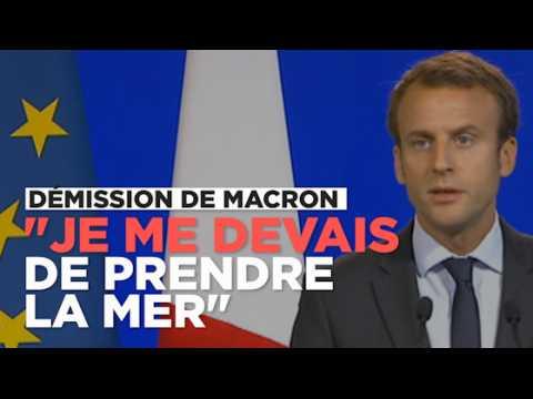 """Démission d'Emmanuel Macron : """"Je me devais de prendre la mer avec un cap"""""""