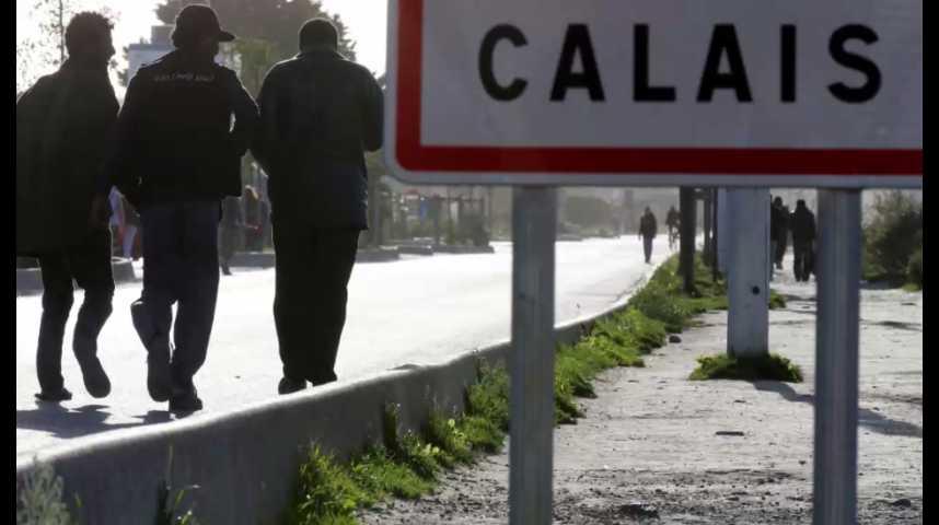 """Illustration pour la vidéo Calais : Hollande veut un démantèlement complet de la """"Jungle"""""""