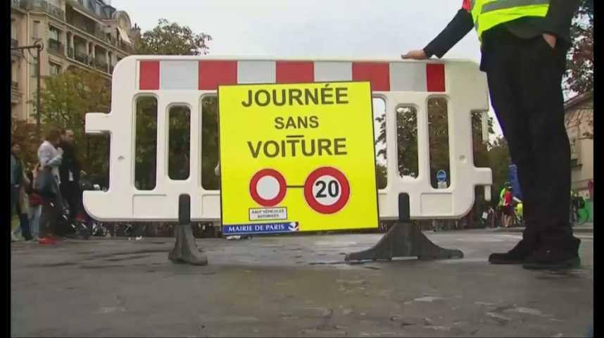 Illustration pour la vidéo Qualité de l'air : impact très positif de la journée sans voiture à Paris