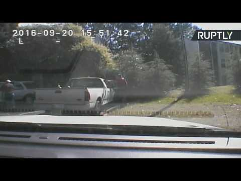 Charlotte Police Release Dashboard Footage of Keith Scott Shooting
