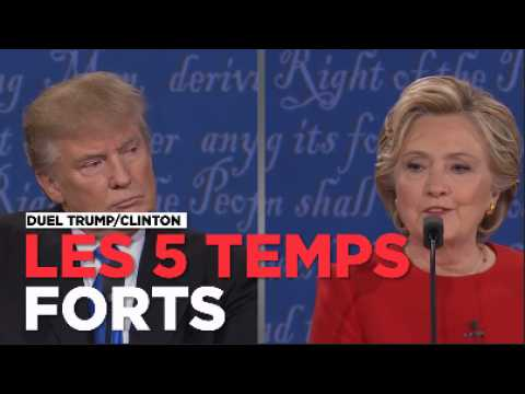 Les 5 temps forts du match Trump - Clinton