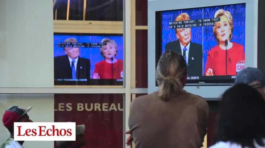 Illustration pour la vidéo Débat Clinton-Trump : quel bilan pour ce premier face à face