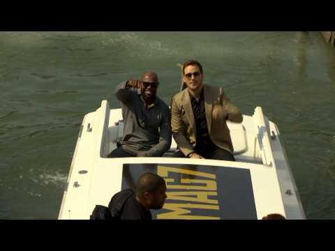 Chris Pratt, Denzel Washington Arrive By Boat At Venice Film Festival