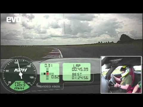 Mercedes SLS AMG in car lap at evo's test track