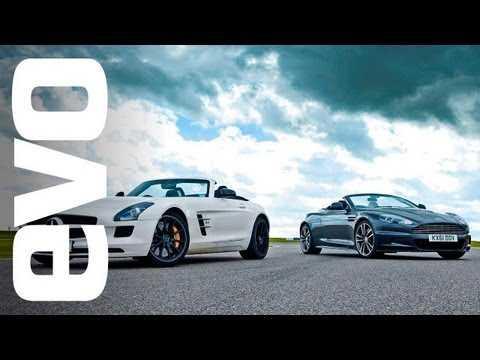 Tiff Needell track battle: Aston Martin DBS Volante  v Mercedes SLS AMG Roadster