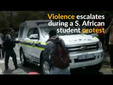 Protesters and police clash at S. African university