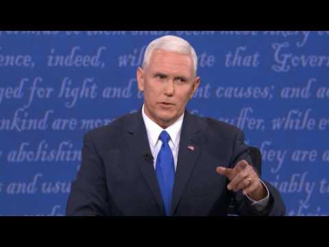 """Pence at VP debate: Trump worked tax code """"brilliantly"""""""