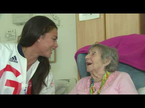 Olympic gold medallist's emotional reunion with her nan
