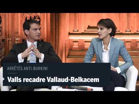 Manuel Valls contredit Najat Vallaud-Belkacem sur les arrêtés anti-burkini
