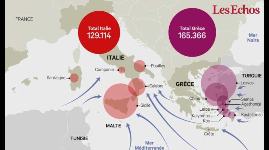 Illustration pour la vidéo  Le flux de migrants dans les pays membres de l'OCDE a atteint 4,8 millions de personnes en 2015