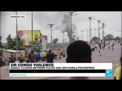 DR Congo: fierce clashes between protesters and security forces, 3 policemen killed in Kinshasa
