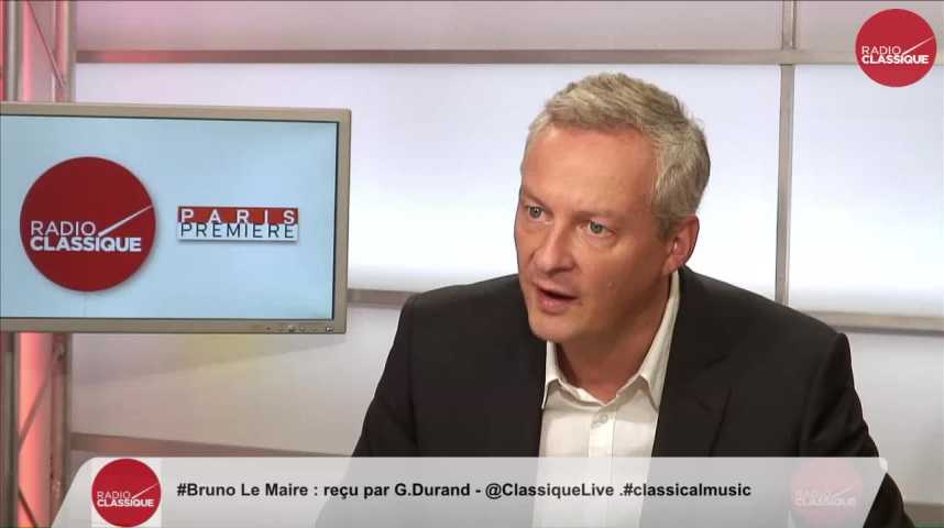 """Illustration pour la vidéo """"J'aime suffisamment la France pour ne pas avoir peur des autres cultures"""" Bruno Le Maire Partie 1 (20/09/2016)"""