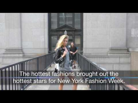 Sexy Stars And Hot Models Light Up New York Fashion Week