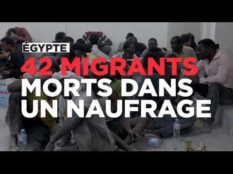 Egypte : au moins 42 migrants morts dans un naufrage