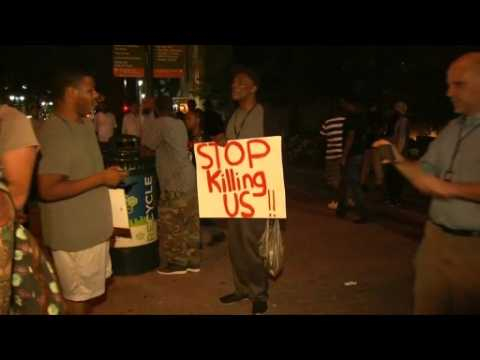 Protesters remain on streets of Charlotte post curfew