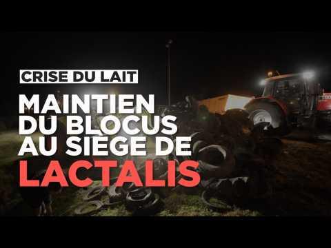 Crise du lait : le blocus se poursuit au siège de Lactalis