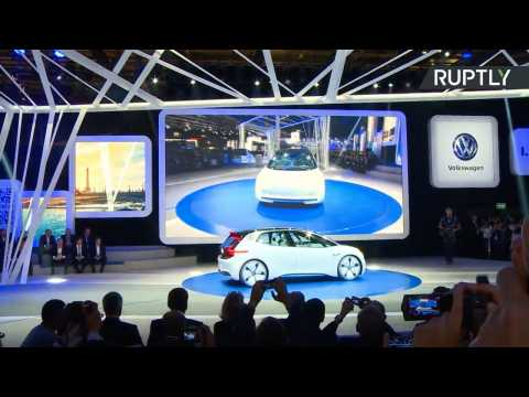 Electric Volkswagen I.D. Goes On Display at  Paris Motor Show