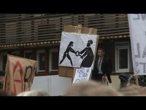 Polish women strike against near-total abortion ban
