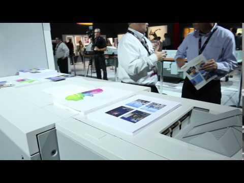 Océ VarioPrint i300 Sheetfed Inkjet Color Press LIVE at Canon Expo