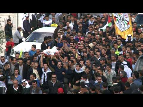Funeral of Palestinian killed in clashes with Israeli troops