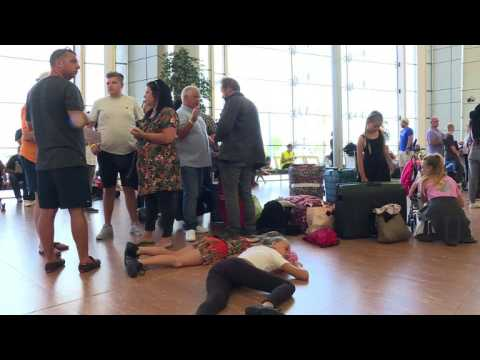 British tourists relieved to leave Egypt after security scare