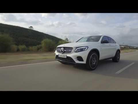 Mercedes-AMG GLC 43 4MATIC Coupé - Driving Video in Diamond White Bright Trailer   AutoMotoTV