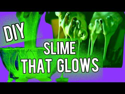 DIY GLOW IN THE DARK SLIME! Perfect for Halloween! NataliesOutlet