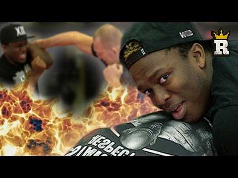 KSI gets choked and dropped - MMA Grappling   Rule'm Sports