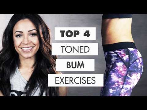 Workout: BIGGER + TONED BUM - Top 4 Exercises | Danielle Peazer compilation