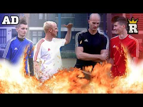 TRICKSHOT Crossbar Challenge! W/ Theo Baker, FootballSkills98, Global Freestyle & Daniel Cutting AD