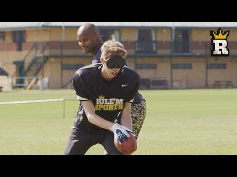 CALFREEZY GETS SACKED BY NFL PLAYER! | Rule'm Sports
